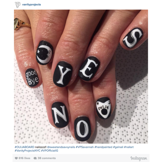 Halloween Nail Art: Ouija Board