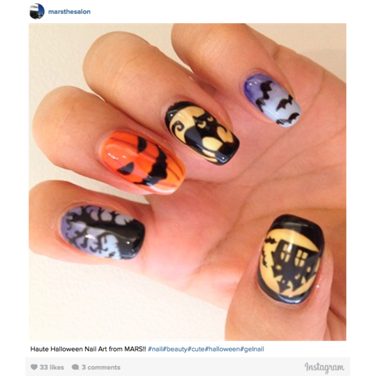 Halloween Nail Art: Haunted House