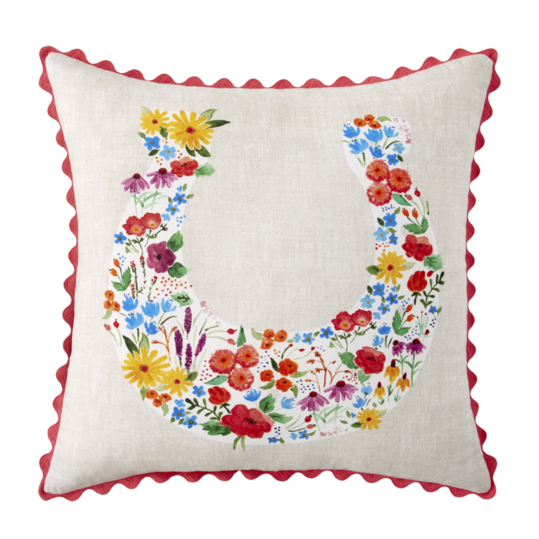 Flowering Horseshoe Decorative Pillow