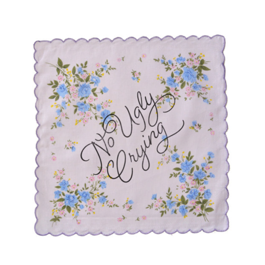 No Ugly Crying Bridesmaid Handkerchief