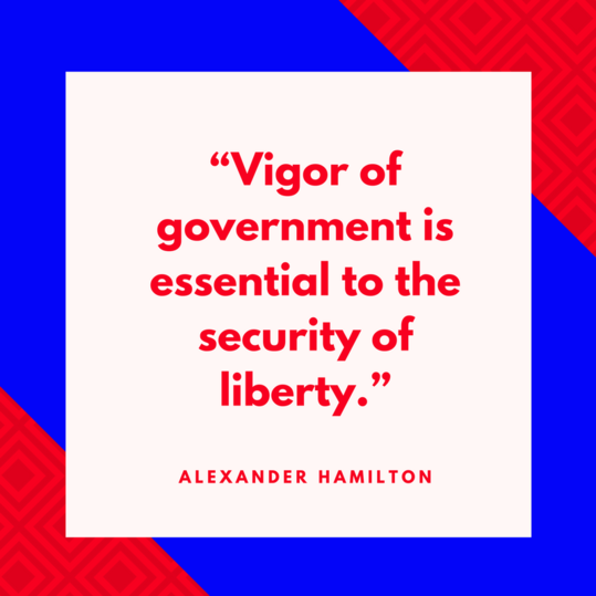 Alexander Hamilton on Government
