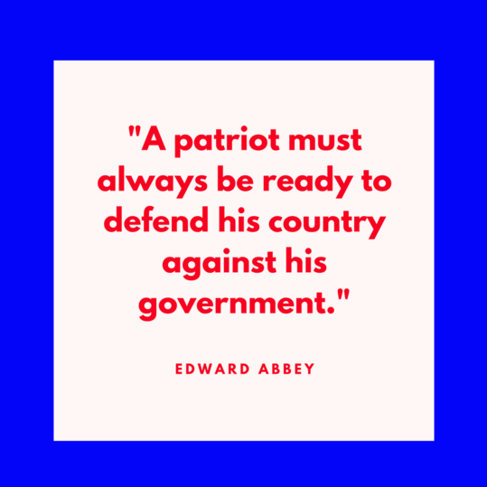 Edward Abbey on Patriotism