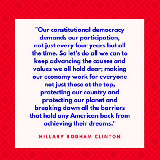 Hillary Rodham Clinton on Democracy
