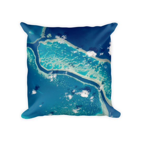 Space Pillow Square - Great Barrier Reef