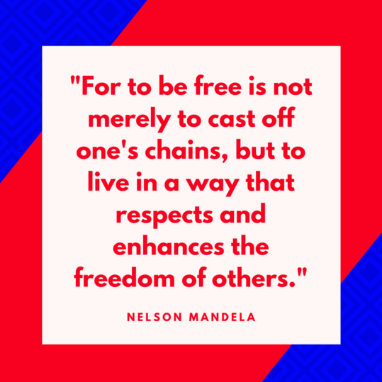Nelson Mandela on Freedom