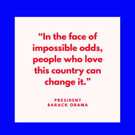 President Barack Obama on Change
