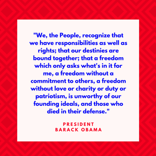 President Barack Obama on Freedom