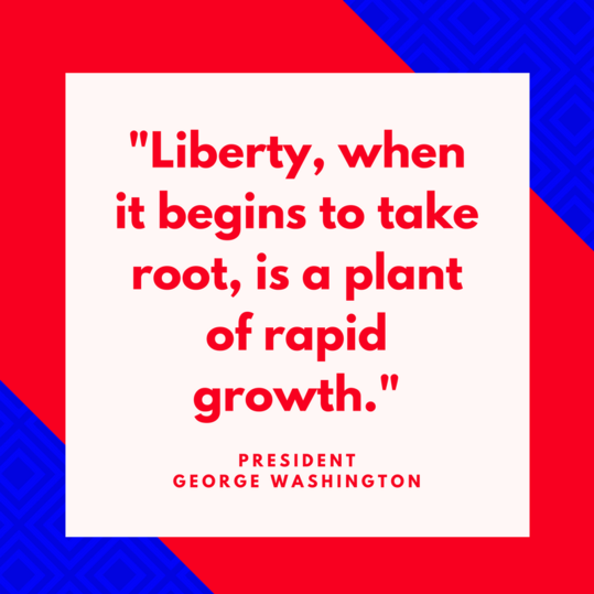 President George Washington on Liberty