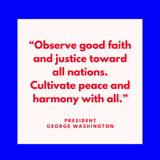 President George Washington on Peace