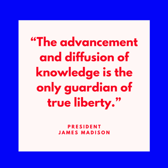 President James Madison on Liberty