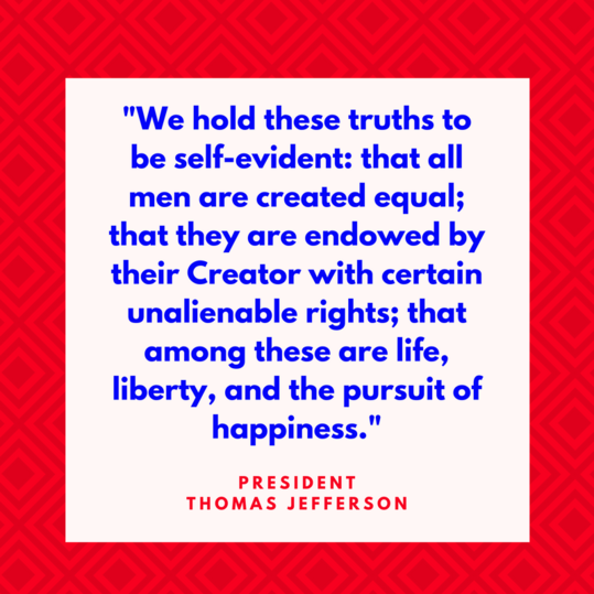 President Thomas Jefferson on Equality