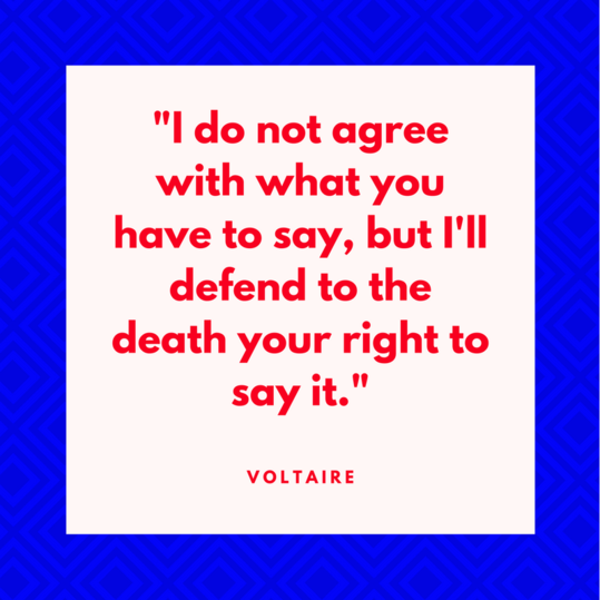 Voltaire on Free Speech