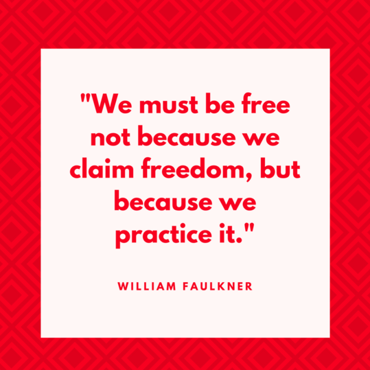William Faulkner on Freedom
