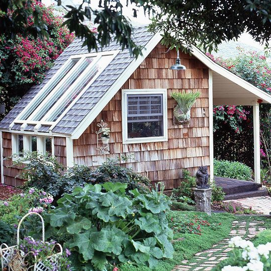 The most charming garden sheds on pinterest southern living for Bhg greenhouse