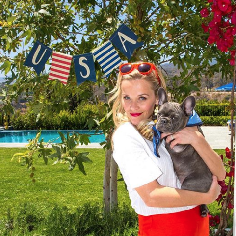 Reese Witherspoon Celebrating Team USA for the Olympics