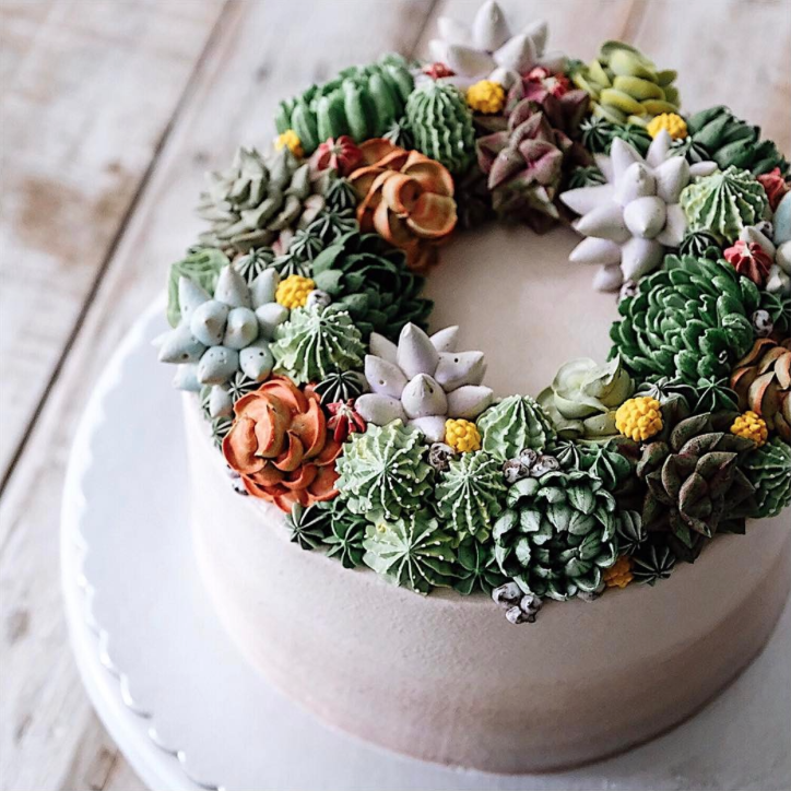 These Gorgeous Succulent Cakes Are a Plant-Lover's Dream Come True