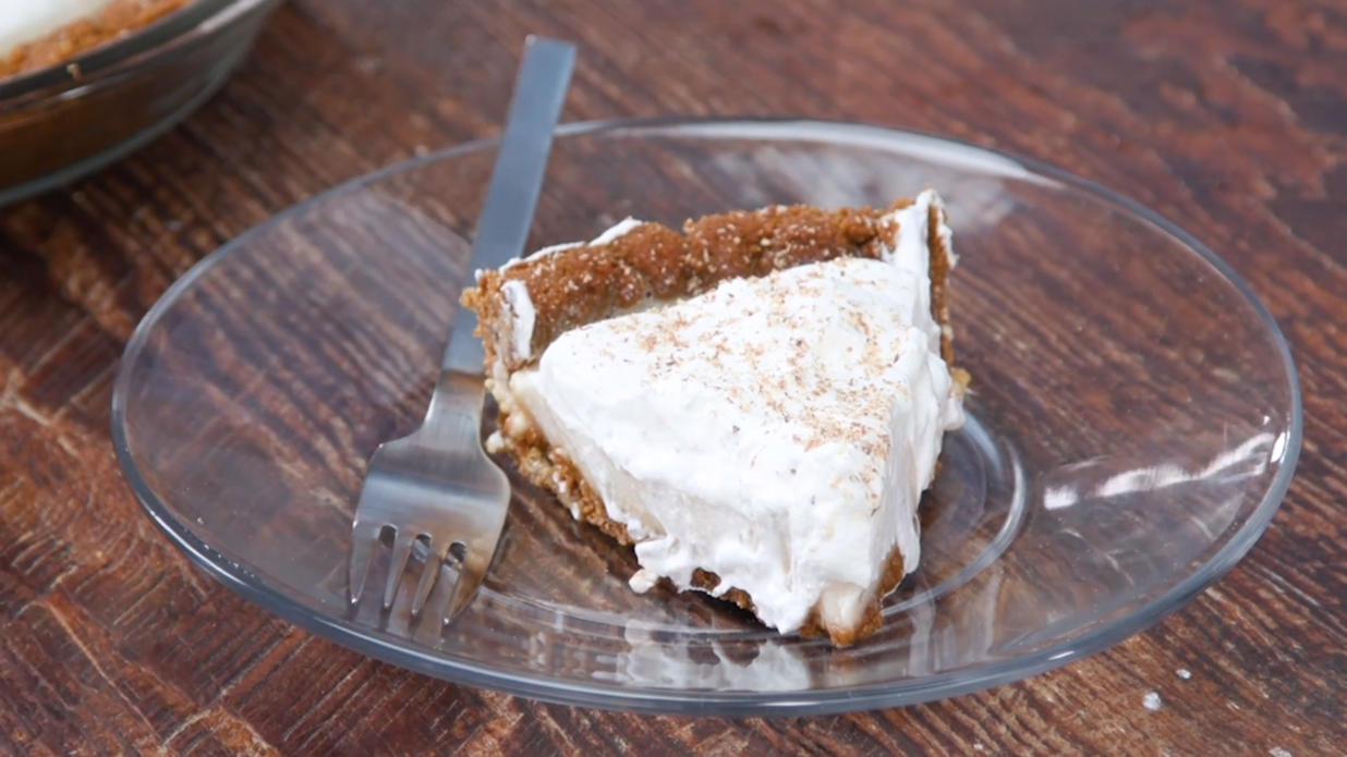 Eggnog Icebox Pie Recipe