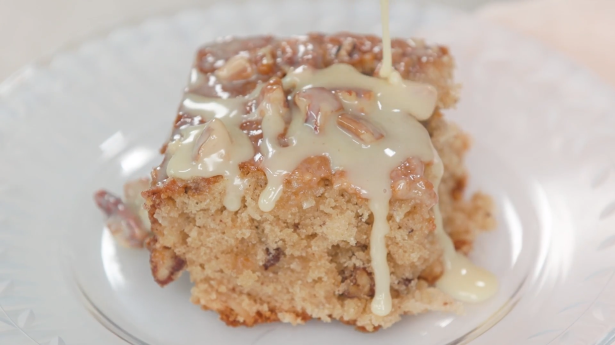 Butter Pecan Sheet Cake Recipe