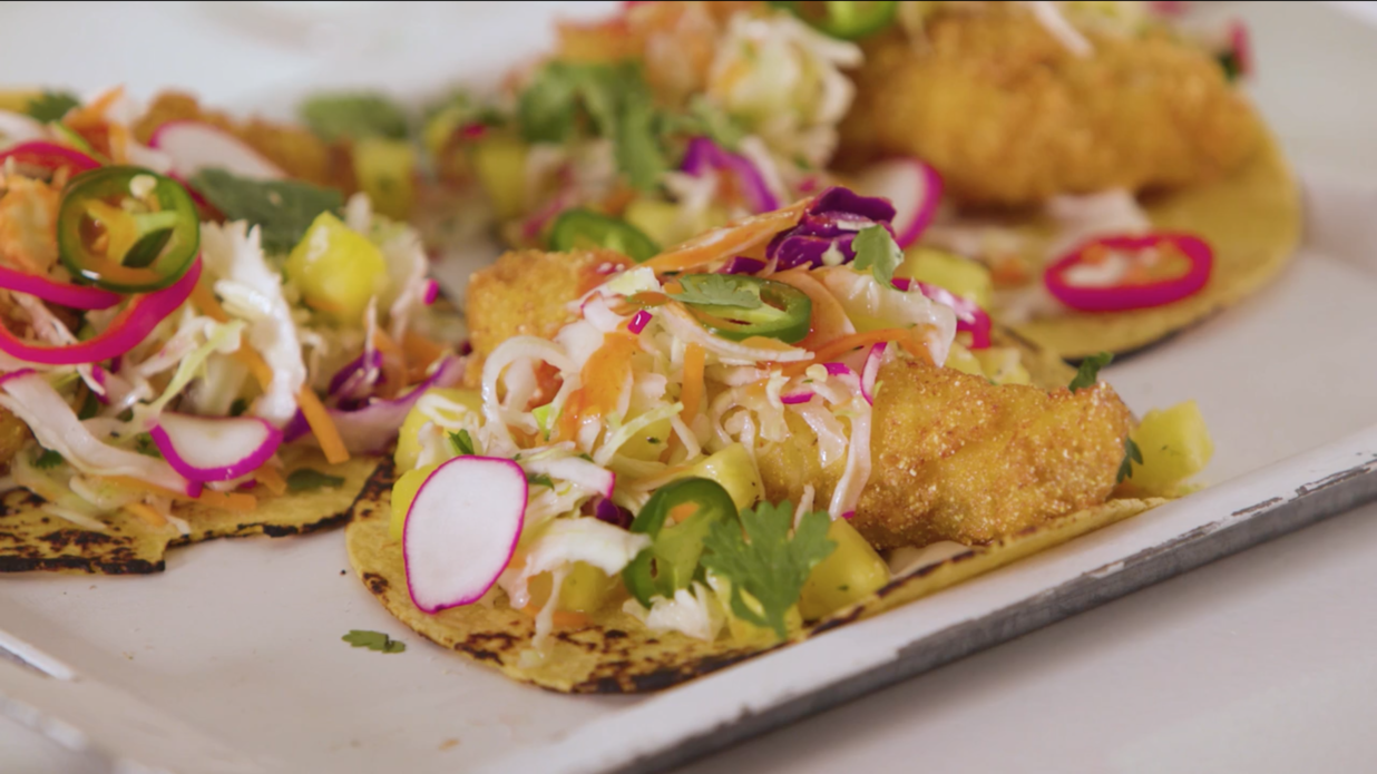 Fried Catfish Tacos