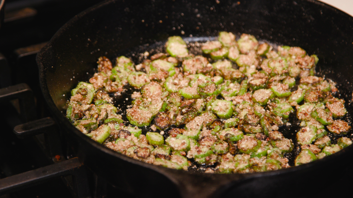 Pan-Fried Okra