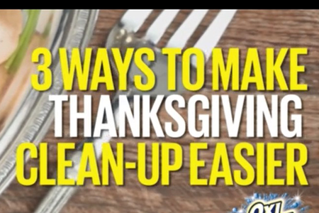 3 Ways to Make Thanksgiving Clean-up Easier
